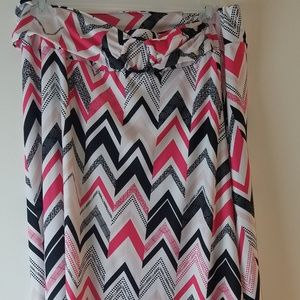 Multi-color skirt with belt